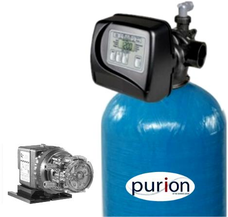 purion iron removal filter with chlorine dosing pump