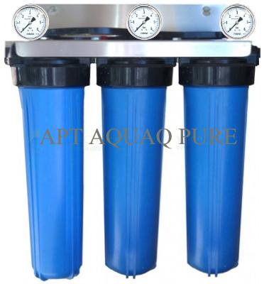 three stage big blue with 3 pressure gauges
