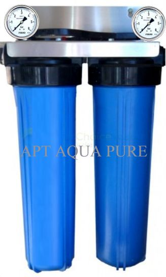 two stage big blue with 2 pressure gauges