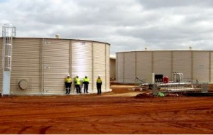 Water Tanks Mine-Site Western Australia